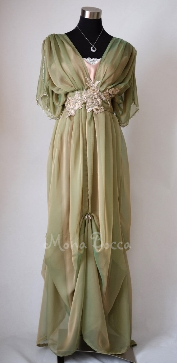 Vintage Tea Dresses, Floral Tea Dresses, Tea Length Dresses Edwardian Dress Somewhere in time $327.20 AT vintagedancer.com