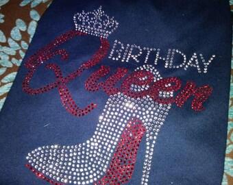 Queen Birthday Rhinestone Shirt