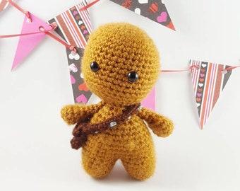 Chewbacca amigurumi, Chewie amigurumi, Chewbacca doll, Chewie doll, geek toy, geek gift, nerd toy, nerd gift, geek craft, nerd craft