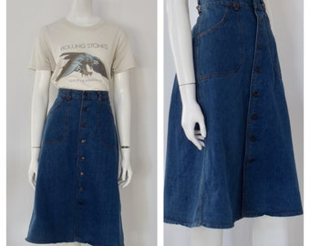 Upcycled Downsized Dark Wash Denim Capri Pants with Silver Grommet Closure and Rayon Ribbon
