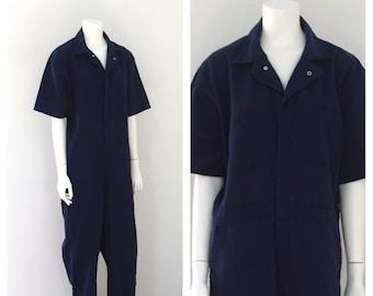 Modern Minimalist Jumpsuit 1990s Durable Press Coveralls Mechanics Suit Women/'s Size Large XL
