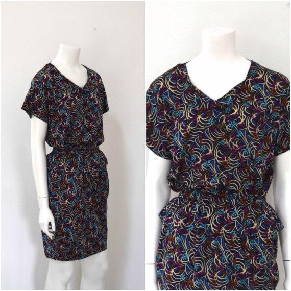 Missoni Knit Dress/ Designer Tee Shirt Dress w Pe… - image 1