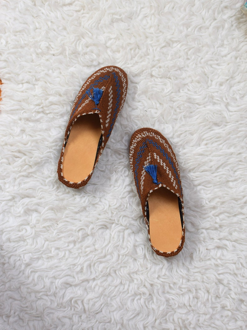 302910749a8d2 Woven Ethnic Shoes/ Fabric Slippers/ Tribal Flats Mules/ Womens Size 6.5 7