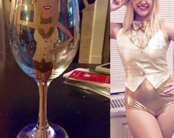 Dancer Dance Teacher Wine Glass Caricature