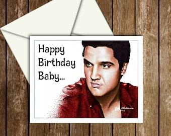 Elvis Birthday Card