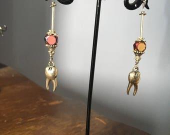 Tooth fairy drop earrings
