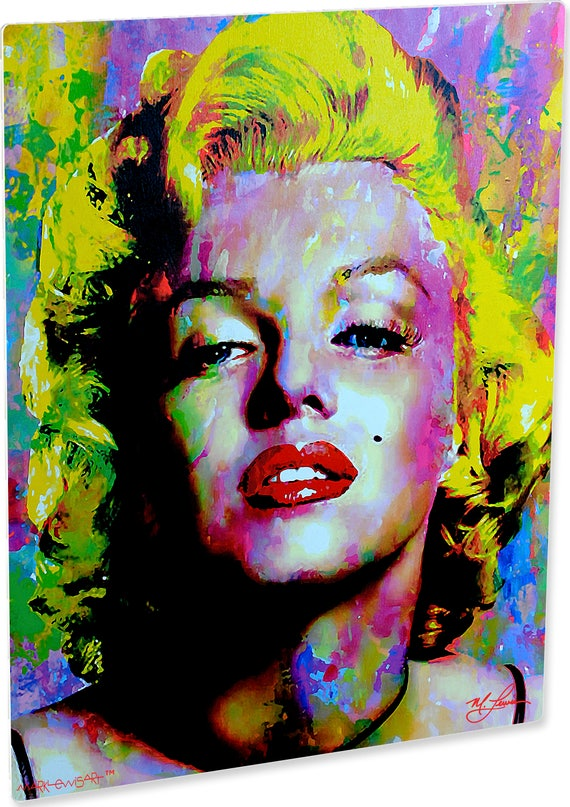 Marilyn Monroe Art Print On Metal Abstract Artwork Signed Etsy