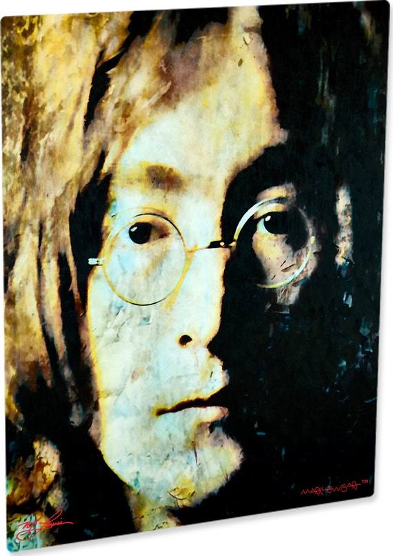 John Lennon Art Print On Metal Abstract Artwork Signed Print Etsy