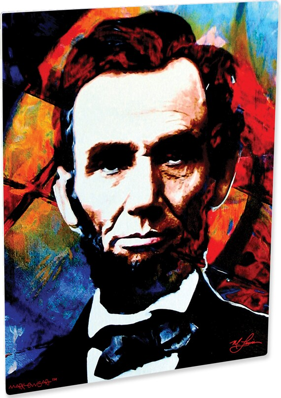 Bedroom Decor Modern Canvas Famous People Art Print Oil Painting Lincoln 16x20
