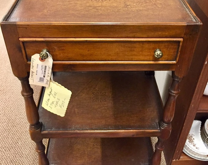 Vintage Lillian August 3 tier side table