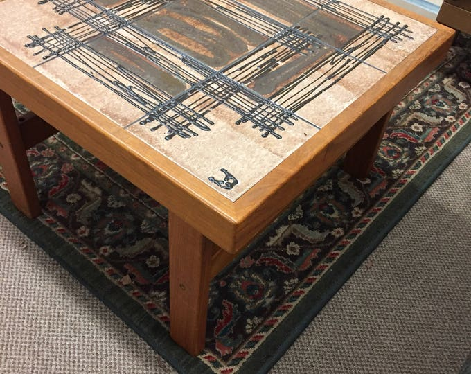 Signed Danish Tile top table