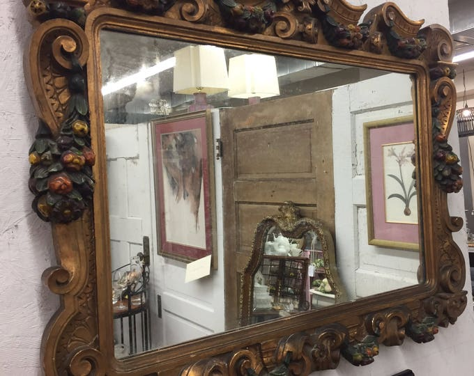 Antique Georgian patcel gilt handcrafted mirror