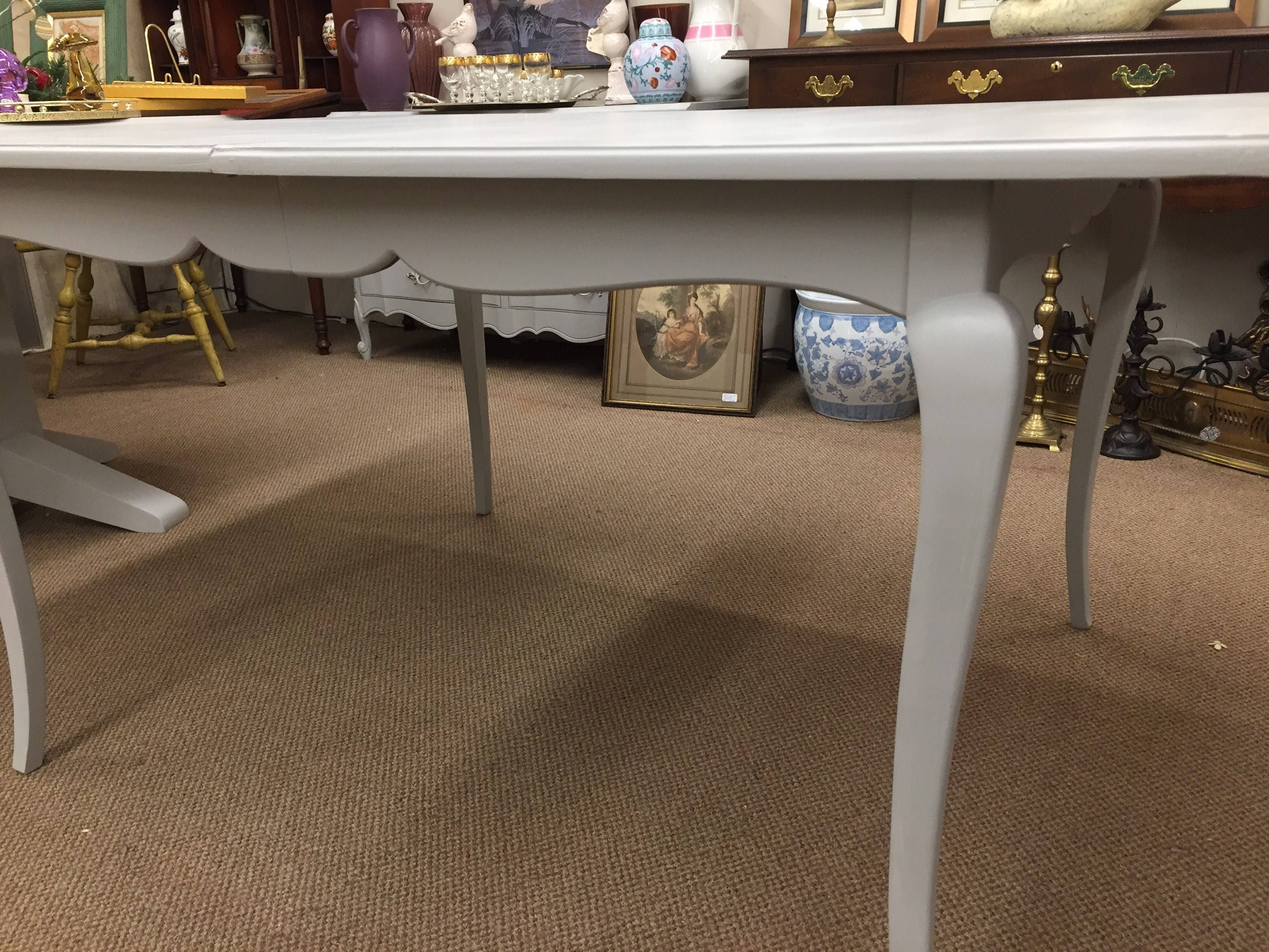 Vintage French Country Grey Painted Table. Gallery Photo Gallery Photo  Gallery Photo Gallery Photo ...