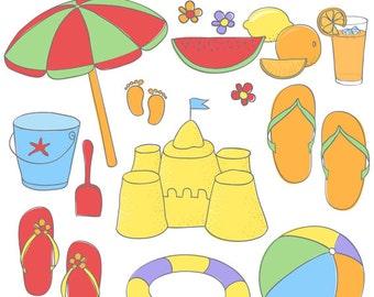 Sonnenschirm strand comic  Bunten sonnenschirm | Etsy
