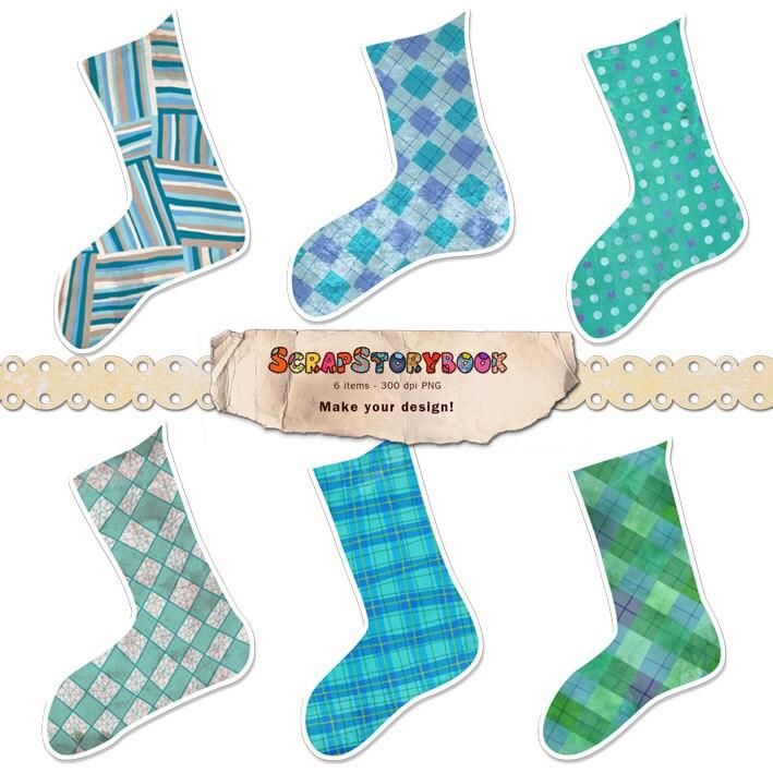 Weihnachten Socken Cliparts 300 dpi PNG druckbare | Etsy