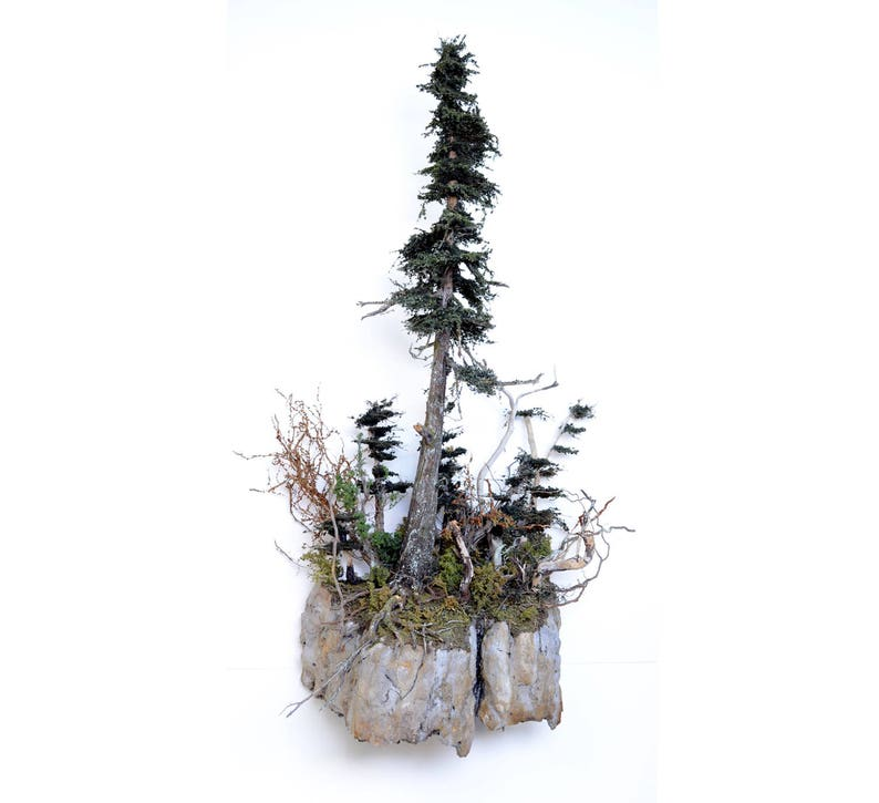 Coastal Big Tree with Faux Stone Sculpture Wall Sconce Natural image 0