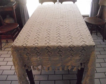 Crochet Tablecloth Etsy