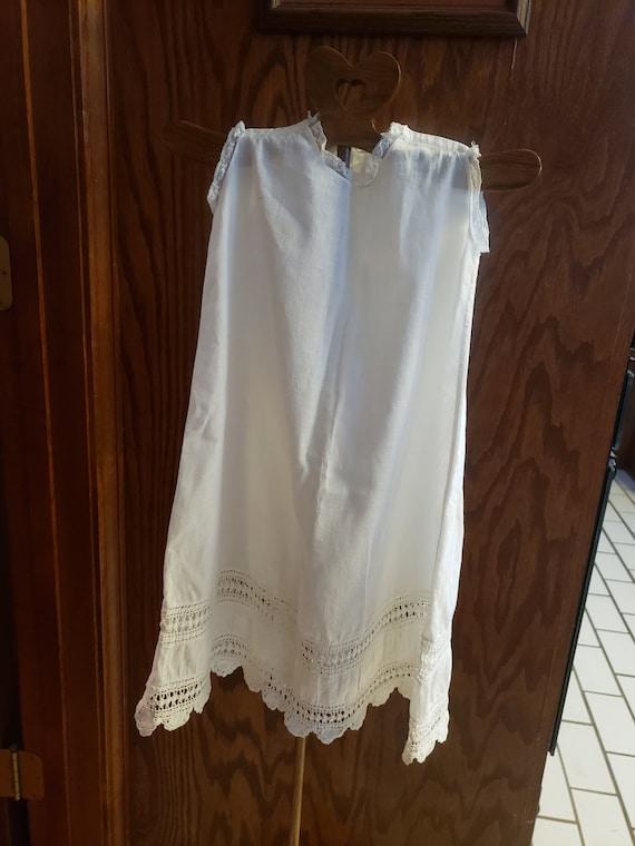 Vintage White Baby Slip, White Baby Dress, Handmad