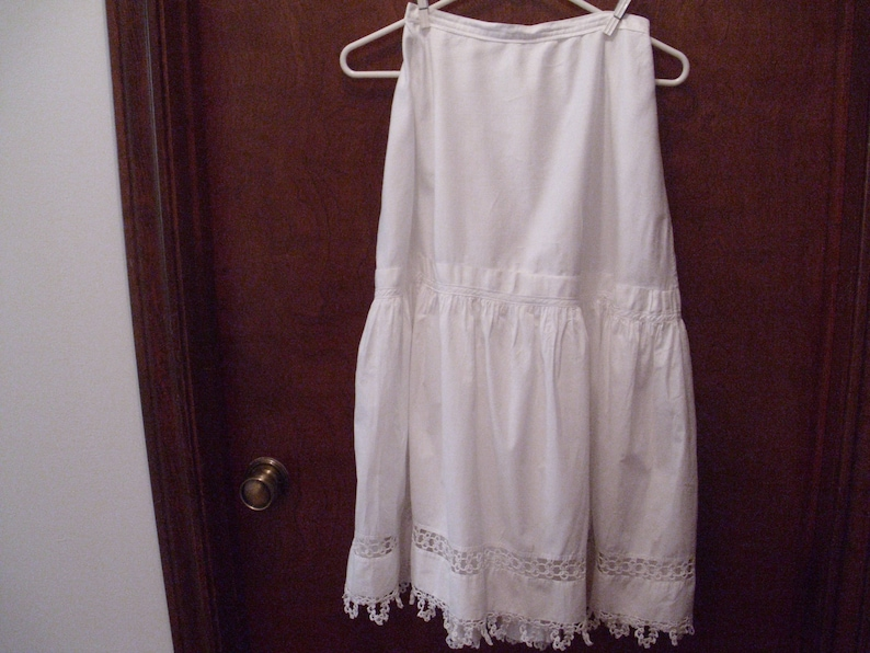 374ff385d347 Vintage Edwardian Petticoat Edwardian Underskirt Tatting