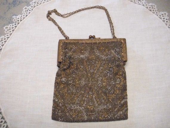 Antique Purse, Vintage Purse, French Steel Beaded
