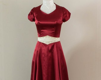 Modest Burgundy Formal Gown