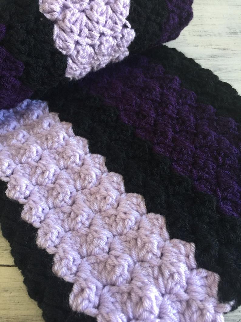 Double Strand Crochet Blanket Chunky Chrochet blanket Purple Crochet Blanket chrochet baby blanket Baby blanket
