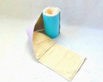 Zero waste, plastic free reusable toilet roll. Ten sheet set made to order in a range of colour options.