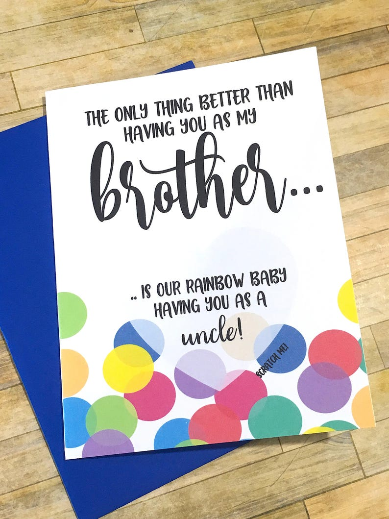Rainbow Baby Scratch off Pregnancy Announcement to Brother ...
