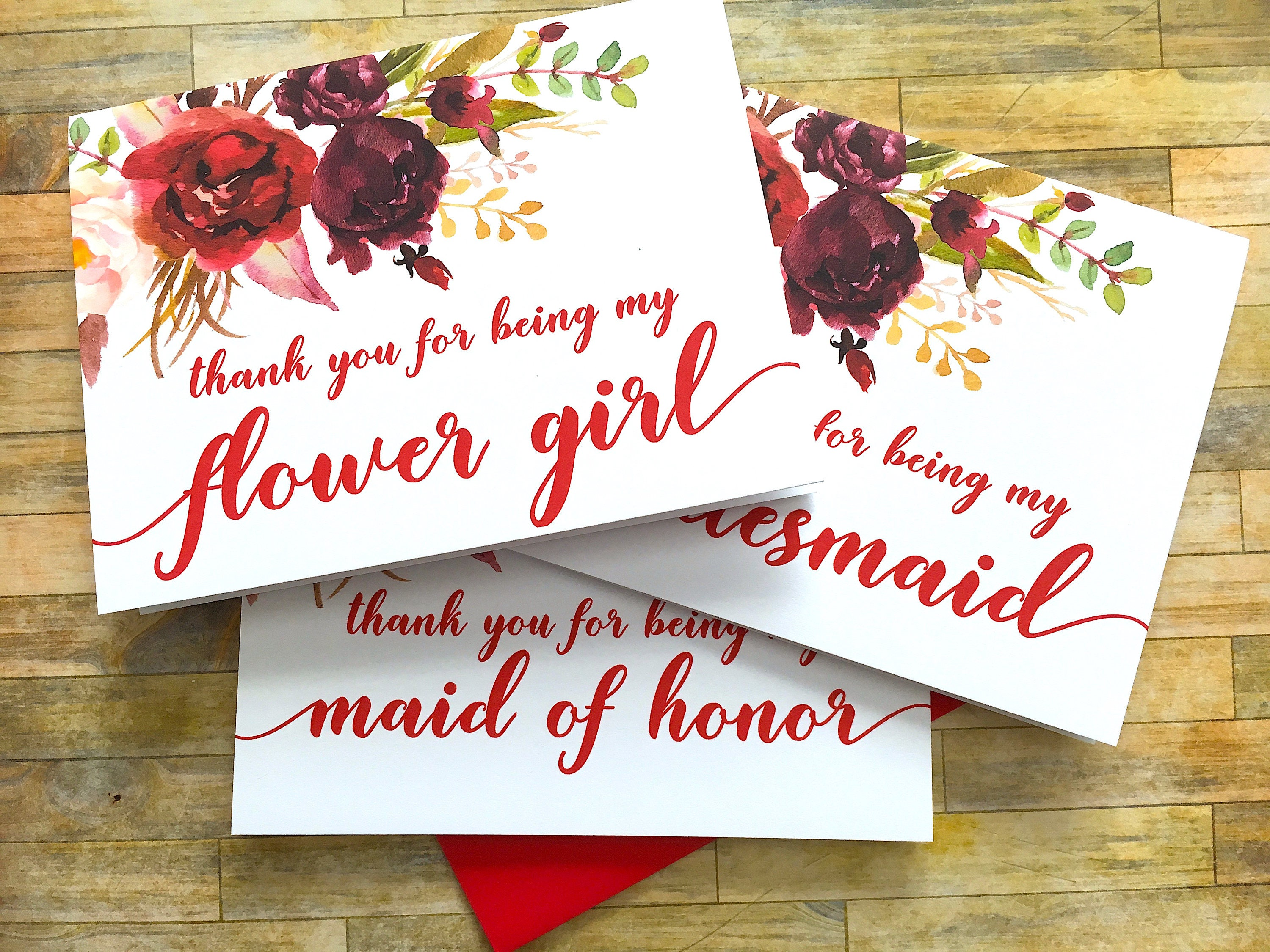 bridesmaid thank you card thank you for being my