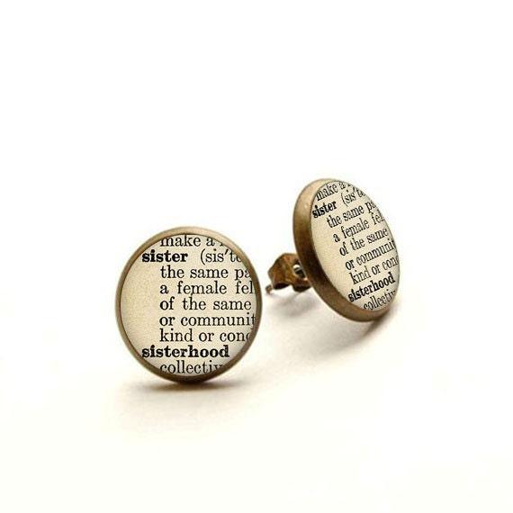 Sister Earrings Gift Jewelry Definition