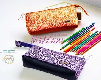 Madeleine - pretty pouches with flat bottom - 2 PDF cosmetic bag & pencil case - easy to make, detailed instructions.