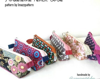 PDF. Madeleine pouch with flat bottom - 2 PDF sewing patterns - cosmetic bag & pencil case - zippered - easy to make, detailed instructions.