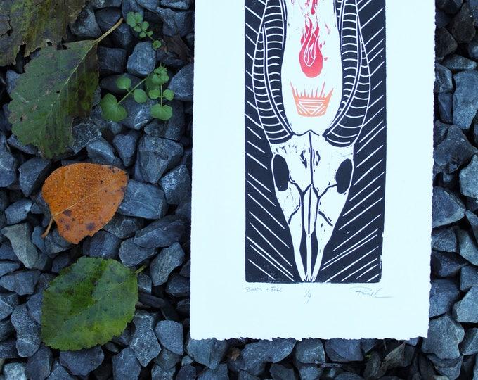 Bones + Fire Small Print