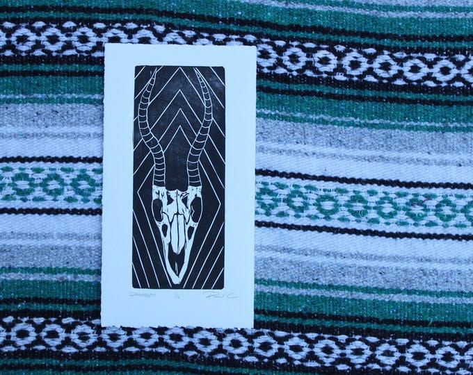 Diamonds Antelope Skull Small Print