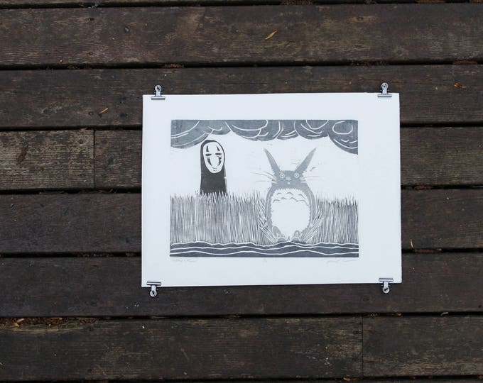 NoFace and Totoro Print