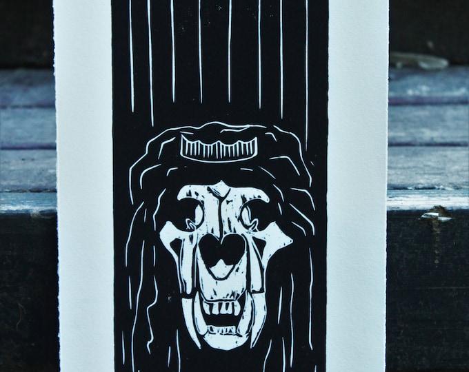 Lion King Skeleton Print
