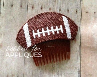 Football Hair Comb ITH In the Hoop Embroidery Design