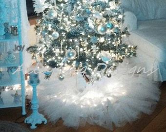 Frozen Christmas Decorations.Frozen Tree Skirt Etsy
