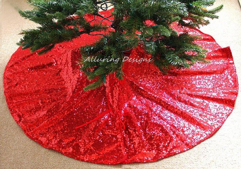 Sequin Tree Skirt Holiday Christmas Tree Skirt Sparkly Tree Skirt Christmas Decorations Glitter Sparkle Glitz Shine Ornaments Gift