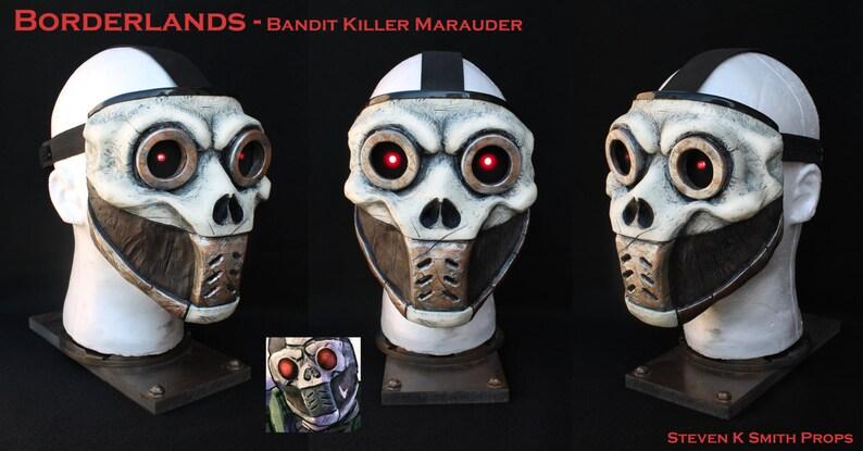 Borderlands Custom Psycho Bandit Killer Mask w/ LEDs