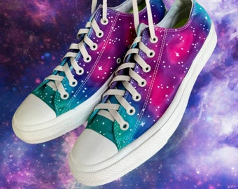 dd03e490d010 Galaxy Tie Dyed Chuck Taylor II Converse 12M 14W Stars and Aurora
