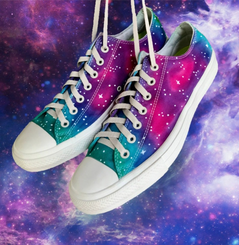 079c55d969fb Galaxy Tie Dyed Chuck Taylor II Converse 12M 14W Stars and