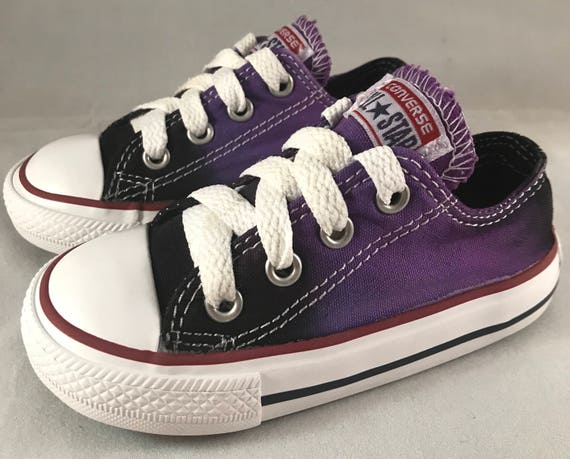 2de19a70490 Tie Dyed Converse Infant Toddler Shoes Size 6 Purple and