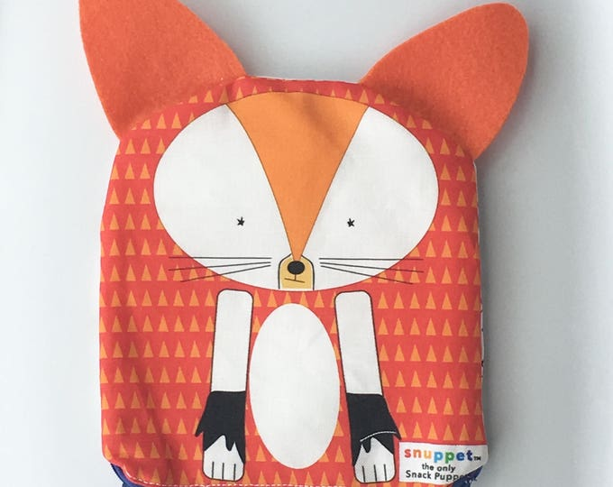 Reusable Lined Zipper Bag- Fox (FREE SHIPPING)