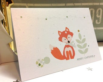 Fox Christmas Cards . Christmas Cards . Holiday Cards . Personalized Christmas Cards . Unique christmas cards . Red fox