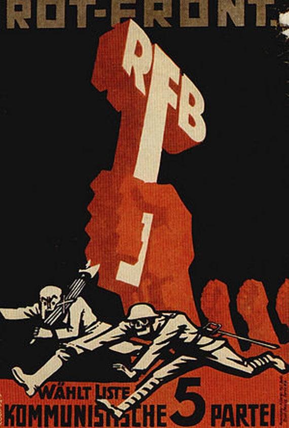 Roter Frontkämpferbund t-shirt   Etsy ef686e5917