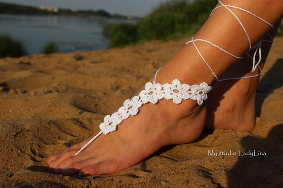 Barefoot Sandals Victorian Lace Nude Shoes Foot Jewelry Etsy