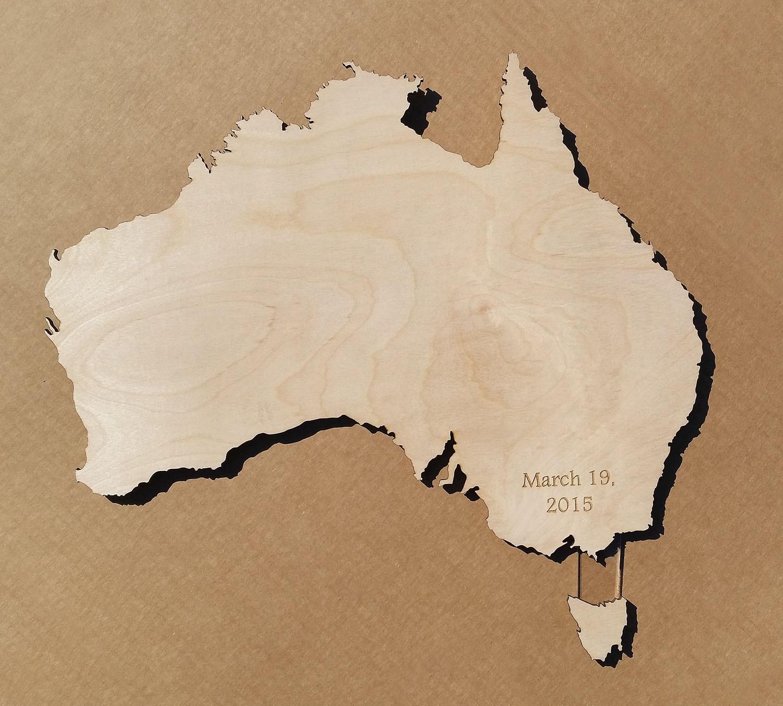 Australia Map Shape.Australia Country Map Wall Clock Housewarming Wedding Family Etsy