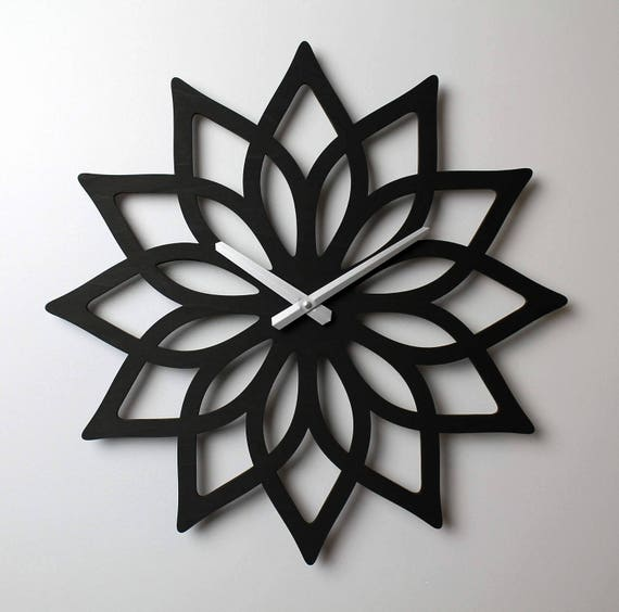 Aussage LOTUS Wanduhr Aussage Wanduhr Lotus Uhr Holz Uhr | Etsy