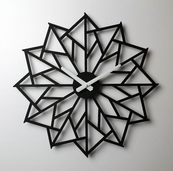 Laser Geschnittene Holz Uhr Windrad Wanduhr Moderne Wanduhr | Etsy